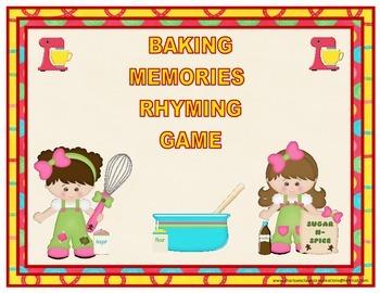 Baking Memories Rhyming Game