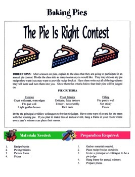 Baking Pies Game / Activity