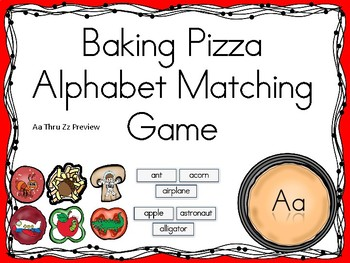 Baking Pizza Alphabet Matching Game Aa