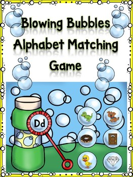 Blowing Bubbles Alphabet Matching Dd