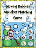 Blowing Bubbles Alphabet Matching Dd