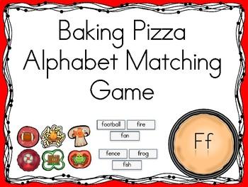 Baking Pizza Alphabet Matching Game Ff