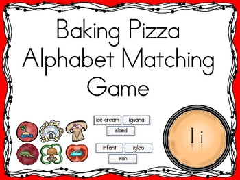 Baking Pizza Alphabet Matching Game Ii