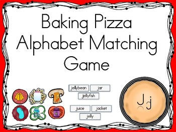 Baking Pizza Alphabet Matching Game Jj