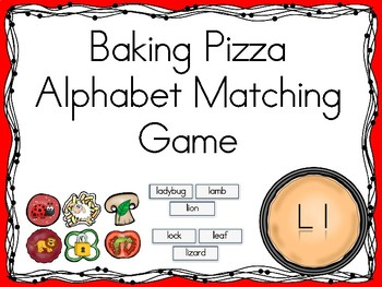 Baking Pizza Alphabet Matching Game Ll