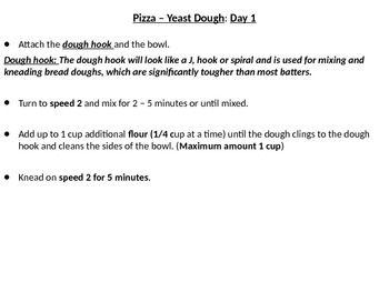 Baking Pizza From Scratch! -PowerPoint Recipe