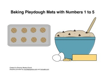 Baking Playdough Mats with Numbers 1 to 5