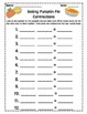 Baking Pumpkin Pie Contractions (fall)