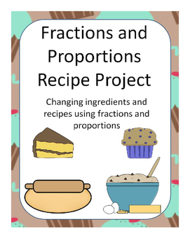 Baking recipe project using fractions proportions by math with miss b baking recipe project using fractions proportions forumfinder Images