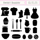 Baking SVG Bakery svg cutting files Cricut and Silhouette SVG