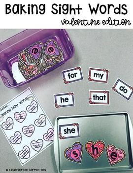 Baking Sight Words: Valentine Edition (Scott Foresman Kindergarten Words)