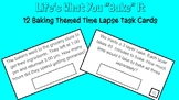Baking Themed Time Lapse Task Cards