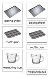 Baking Tools (3-Part Montessori Cards)