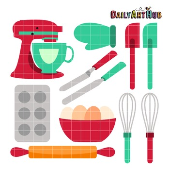 Baking Tools Clip Art - Great for Art Class Projects!
