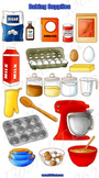 Baking Tools and Supplies Clipart 20 Pack PNG Format Digit