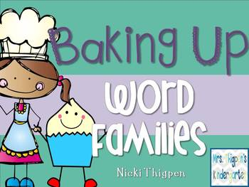 Baking Up Word Families--Word Sort