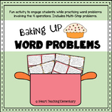Word Problem Practice-Baking Up Word Problems: Volume 1