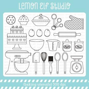 Baking Utensils-Digital Stamp (LES.DS11)