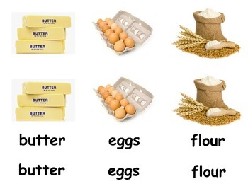 Baking Vocabulary 3 Part Cards