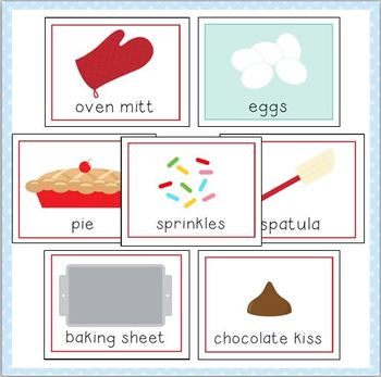 Baking Vocabulary Cards For Preschool And Kindergarten By