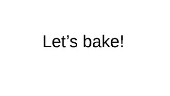 Baking actions and objects PPT