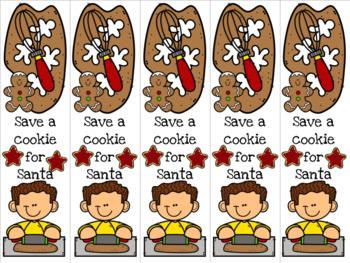 Boy baking cookies bookmark