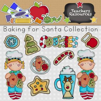 Baking for Santa Clipart Collection