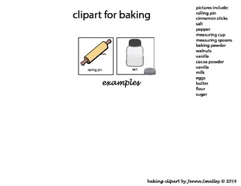 Baking pictures--great visuals to go along w/a lesson and