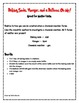 Baking soda, Vinegar and a balloon, Oh My Scientific Method Data sheet