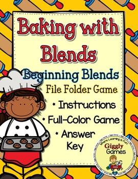 Baking with Blends File Folder Game