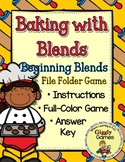 Baking with Blends File Folder Game