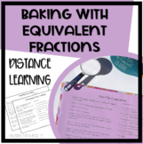 Baking with Equivalent Fractions - 2 Recipe Worksheets for
