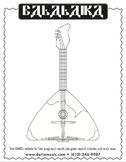 Balalaika - Free Coloring Page
