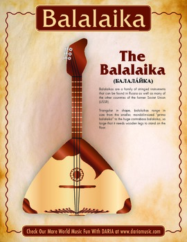 Balalaika Mini-Poster and Coloring Page