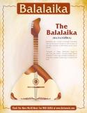 Balalaika Mini-Poster and Coloring Page