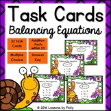 Balance Addition Equations within Ten and Twenty Task Cards