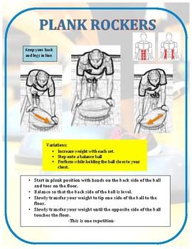 Exercise Task Cards: Balance Ball