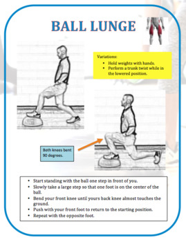 Balance Ball Exercise Task Cards: Complete Set