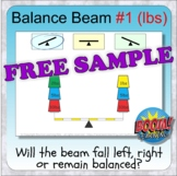 Balance Beam 1 (81 BOOM CARDS - weights in lbs) FREE SAMPLE