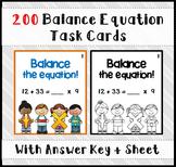 Balance Equation Task Cards
