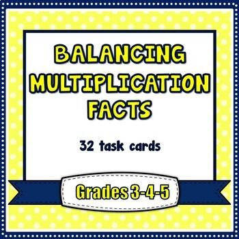 Multiplication Facts - Balancing Equations