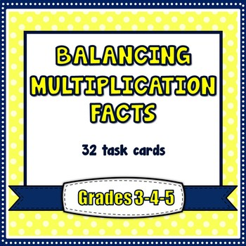 Multiplication Reinforcement - Balancing Multiplicatioin Facts