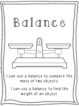 Balance Lesson and Posters
