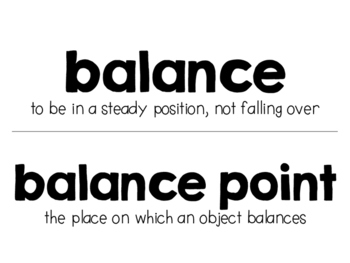 Balance & Motion FREEBIE!