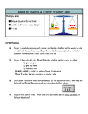 Balance My Equation: A Multi-Digit Addition Subtraction St