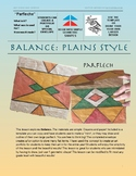 Balance: Plains Style Parflech- Native American Art