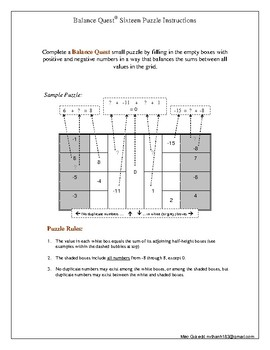Balance Quest Puzzle - Practice number calculation