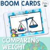 Balance Scale Boom Cards | Heavier or Lighter