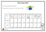 Balance Scale Prediction Sheet Grade 1