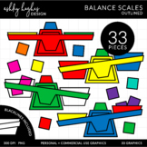 Balance Scales Clipart {A Hughes Design}